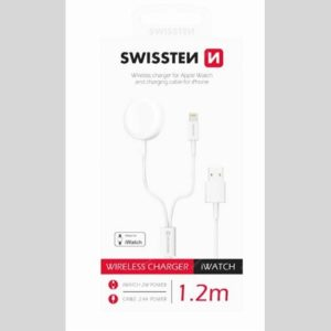 SWISSTEN nabíječka pro Apple Watch, bezdrátová, 2W, bílá