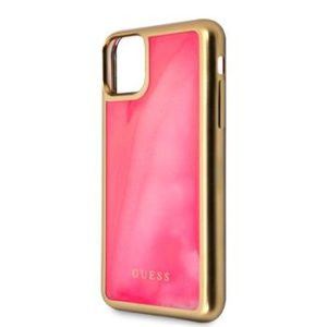 Guess GUHCN65GLTRPI Glow In The Dark Cover for iPhone 11 Pro Max Pink