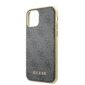 GUHCN61G4GLGR Guess 4G Stripe Zadní Kryt pro iPhone 11 Grey