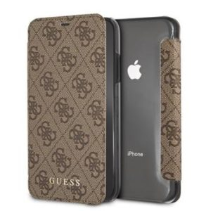 Pouzdro GUFLBKI61GF4GBR Guess Charms Case 4G Brown iPhone XR