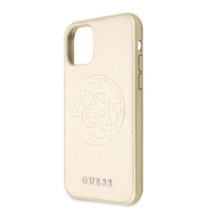 GUHCN58RSSASGO Guess Saffiano Zadní Kryt pro iPhone 11 Pro Gold