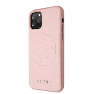 GUESS SAFFIANO ZADNÍ KRYT GUHCN65RSSASRG PRO APPLE IPHONE 11 PRO MAX ROSE