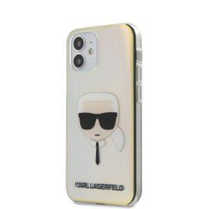 Karl Lagerfeld KLHCP12SPCKHML PC/TPU zadní Kryt pro iPhone 12 mini 5.4 Iridescent