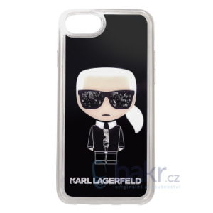 KLHCI8ICGBK Karl Lagerfeld Iconic Glitter Kryt pro iPhone 7/8/SE2020 Black