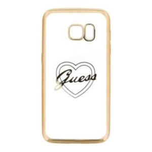 Guess Heart Samsung Galaxy S7 kryt Gold