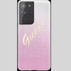 GUHCS21SPCUGLSPI Guess PC/TPU Vintage Samsung Galaxy S21 Gradient Pink
