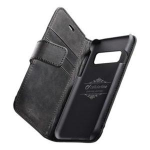 Cellularline Supreme kožené pouzdro iPhone XS Max černé