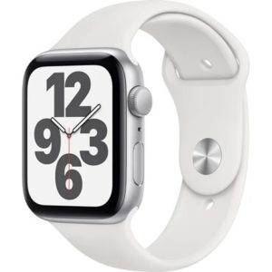 Apple Watch SE 44mm Silver White Sport Band