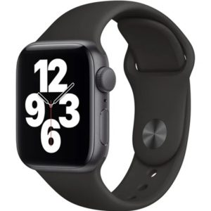 Apple Watch SE 44mm Space Gray Black Sport Band