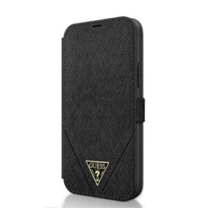Guess GUFLBKP12LVSATMLBK Saffiano V Stitch Book Pouzdro iPhone 12 Pro Max 6.7 Black