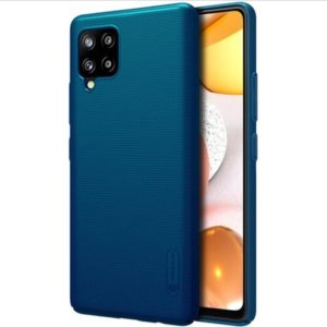 Nillkin Super Frosted Zadní Kryt Samsung Galaxy A42 Peacock Blue