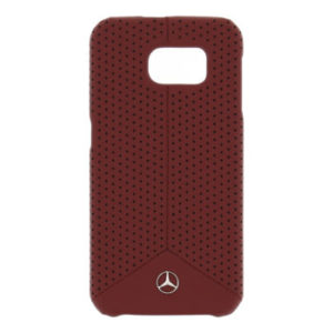Mercedes Samsung Galaxy S6 zadní kryt Leather Red