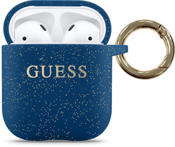 GUACCSILGLBL Guess Silikonové Pouzdro pro Airpods 1/2 Blue