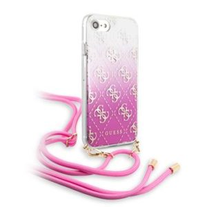 Guess GUHCI8WO4GPI 4G Electroplated Kryt pro iPhone 8/SE2020 Pink