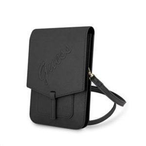 GUWBRSAVSBK Guess PU Saffiano Phone Bag Black