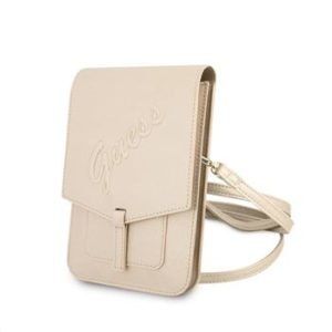 GUWBRSAVSLG Guess PU Saffiano Phone Bag Light Gold