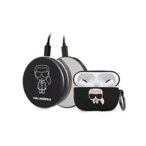 KLBPPBOAPK Karl Lagerfeld Bundle Iconic Pouzdro pro Airpods Pro + Power Bank
