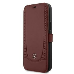 MEFLBKP12MARMRE Mercedes iPhone 12/12 Pro 6.1 Perforated Leather Book  Red